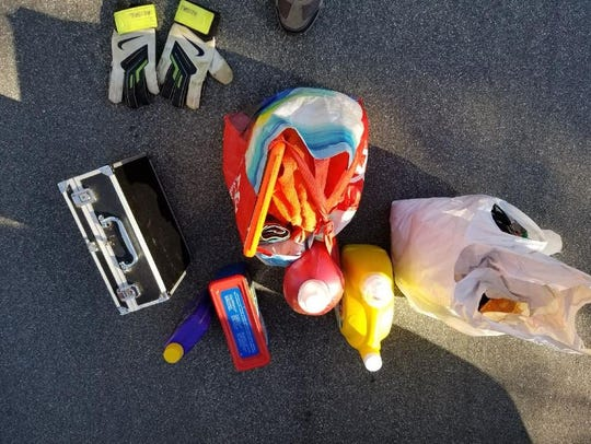 Items removed from vehicle
