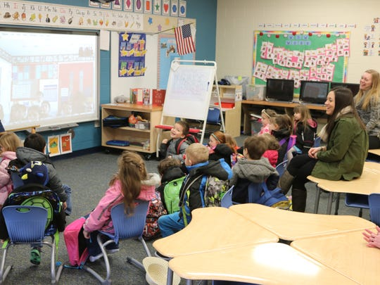 Preschool students at Bataan Primary School learn about life South of the Border during a video chat with young students in Mexico City.