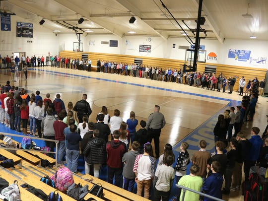 Danbury High School students show solidarity with peers in