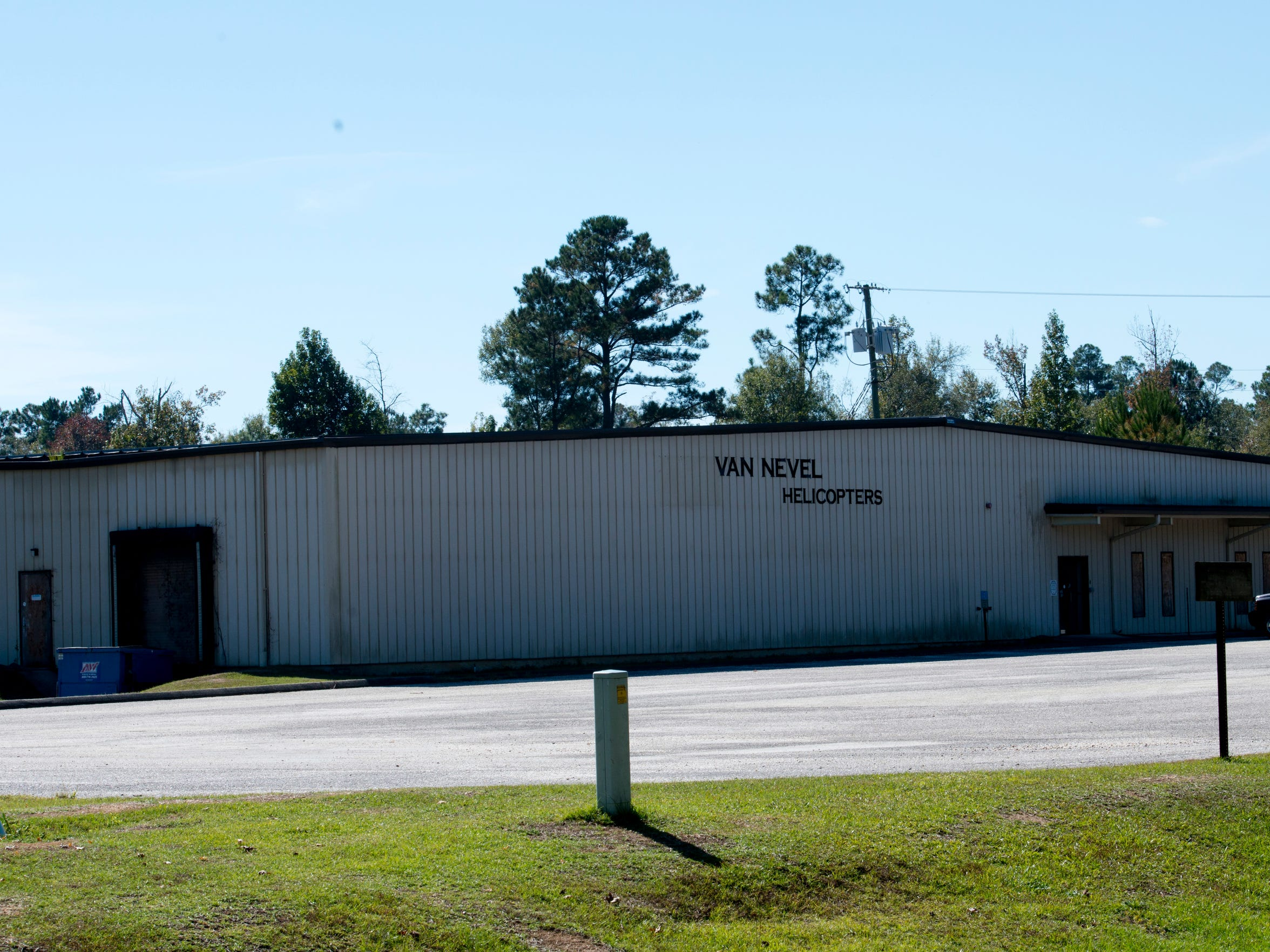 The former site of the Brown/Van Nevel Helicopters facility now closed in Century.