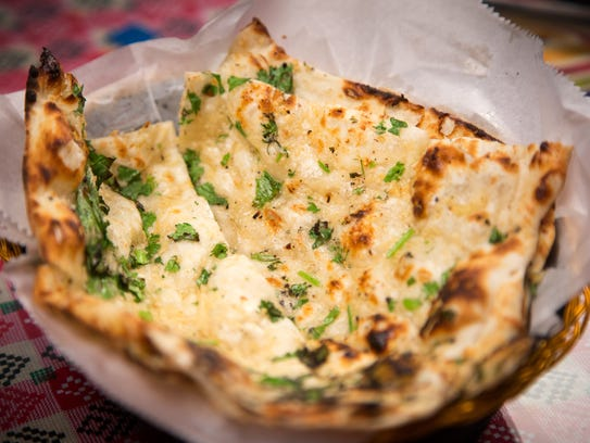 Garlic Naan from Kathmandu 4121 SE 14th St. in Des