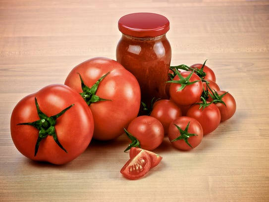 Tomato sauces contain lycopene, an antioxidant.