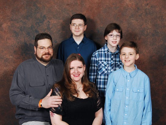 The Mays family: from left, Adam Mays, 40, Melissa