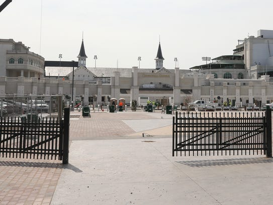 The new paddock entrance for Churchill Downs visitors