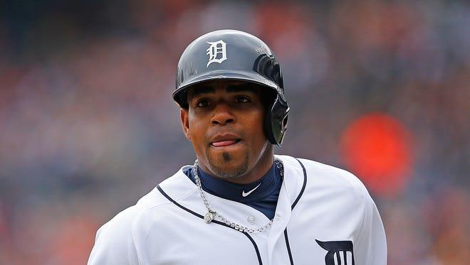 Yoenis Cespedes of the Detroit Tigers.