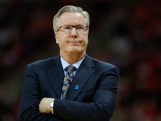 Iowa head coach Fran McCaffery shows his frustration during the second half against the Ohio State Buckeyes on Feb. 10, 2018, in Columbus, Ohio.