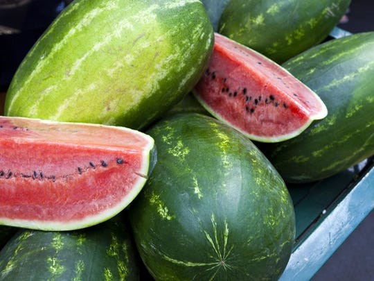 Tired of sliced watermelon? Mix it in a salad with tomatillos, queso freso, mint and jalapenos.