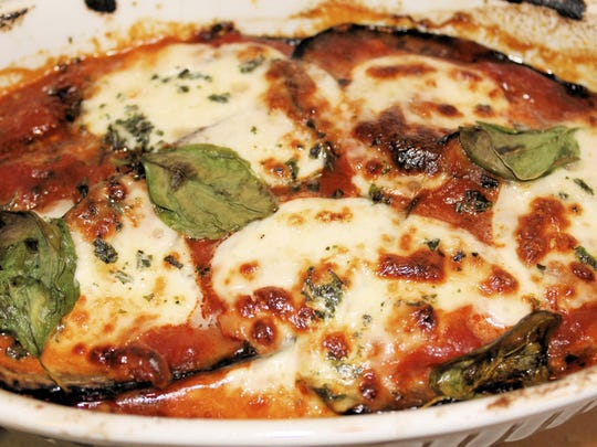 Eggplant Parmigiana evokes memories of home.