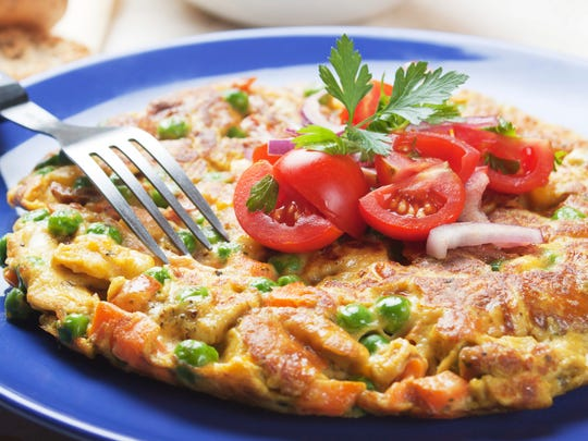 A frittata is a great way to use up Christmas leftovers