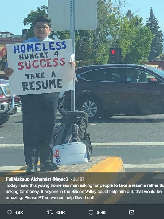 homeless man in silicon valley hands out resumes gets multiple offers