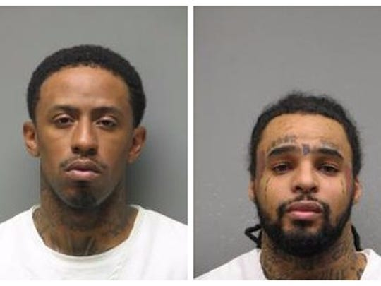 Jeffrey Clark (left) and Rayshaun Johnson have been arrested.