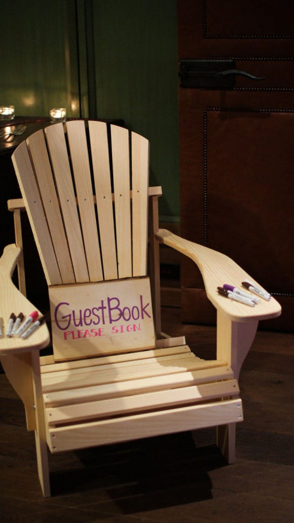 Adirondack Chair as Guest Book