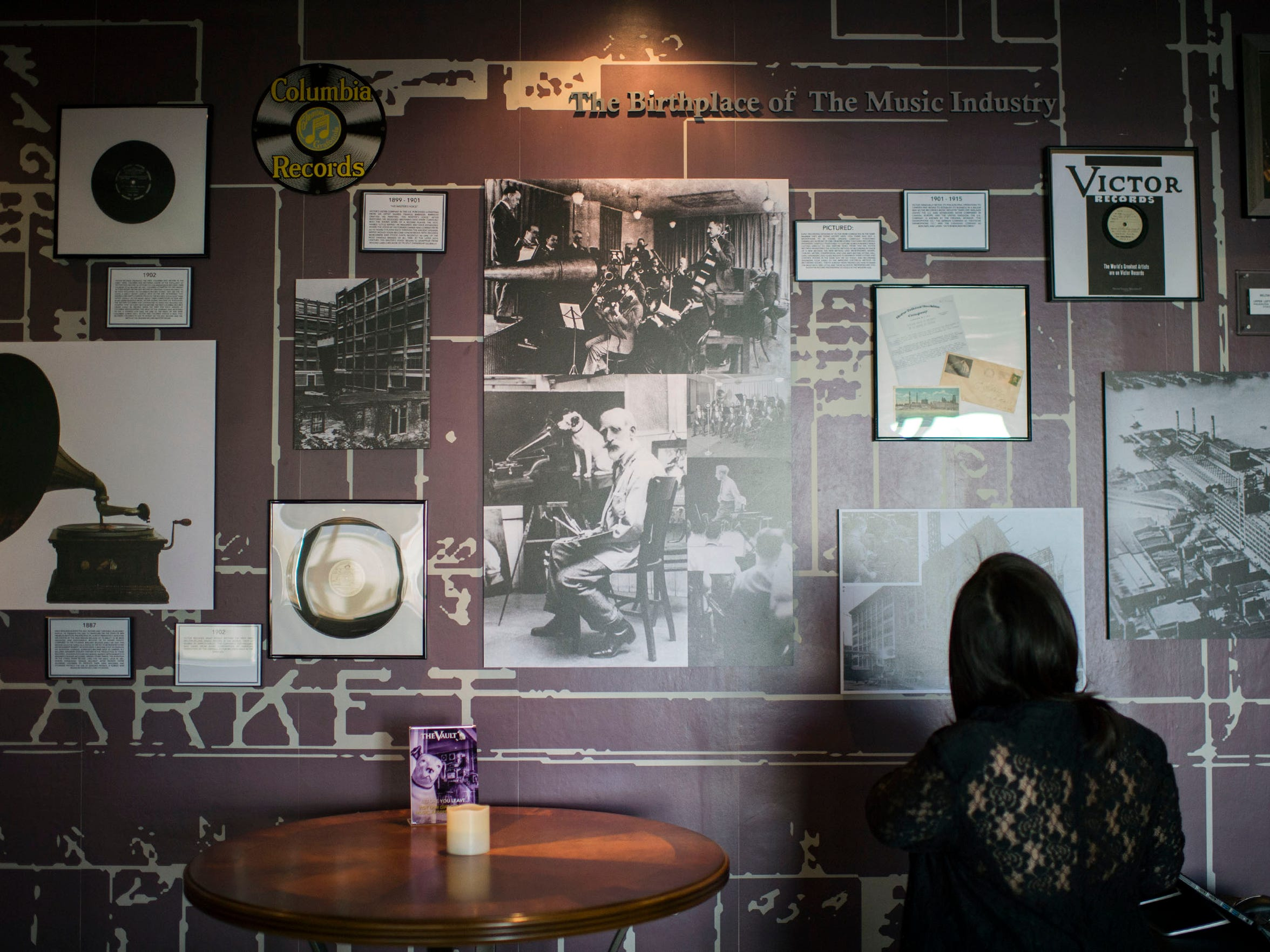 The Vault doubles as a miniature museum paying tribute to the history of the recording industry.