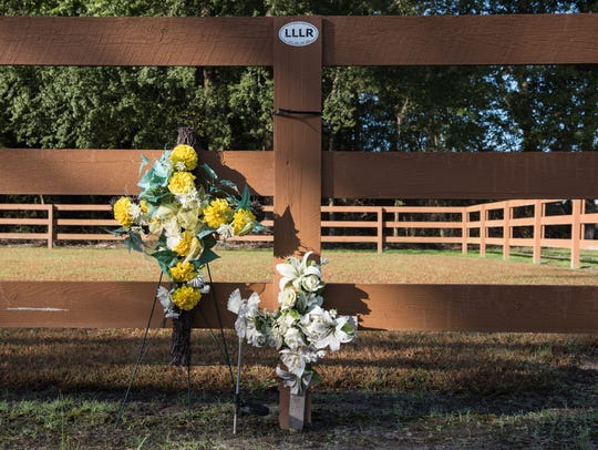 A roadside memorial was created at the place Rob Schultheis