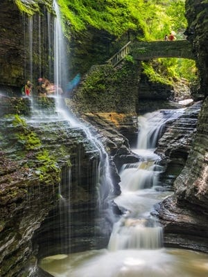 The Triple Cascades in Watkins Glen State Park.
