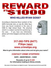 Ryan Goss was murdered on his front porch on July 30,