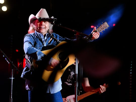 Dwight Yoakam performs with Dierks Bentley during Bentley's