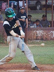 John F. Kennedy Islanders senior A.J. Benavente had three hits in a 9-2 win against the Tiyan Titans in their IIAAG Baseball League game at Chalan Pago-Ordot field on Wednesday, Dec. 2.