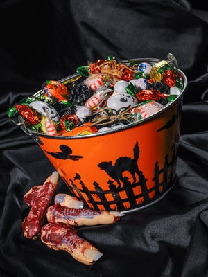 Halloween candy is photographed in Hagåtña on Friday, Oct. 7. Whether it's fruit, candies or cookies, sugar is only part of the picture for diabetics.