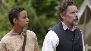 "Ethan Hawke and Joshua Caleb Johnson star in ""The Good Lord Bird."""