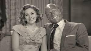 "Elizabeth Olsen and Paul Bettany star in fun new comedy ""WandaVision."""