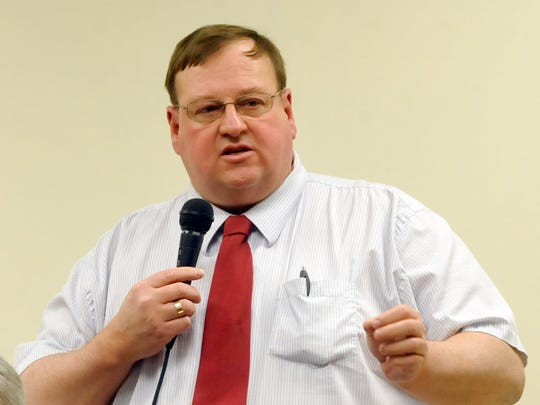 Cascade County Commissioner Joe Briggs during 2010 candidate forum.