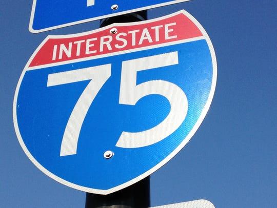 I-75 sign