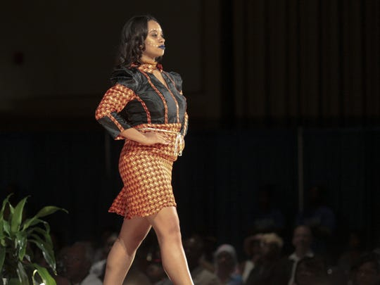 A model works the runway during the Summer Celebration fashion show in 2013.