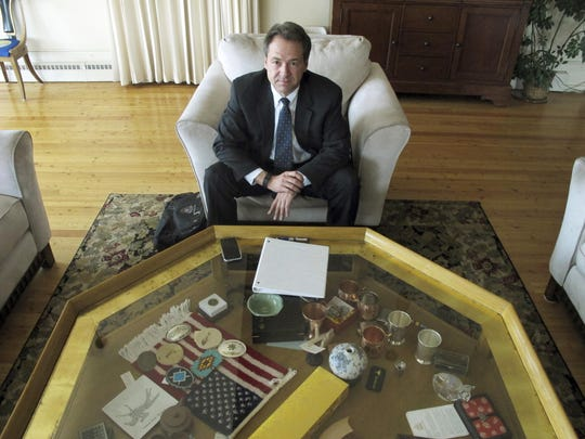 Montana Gov. Steve Bullock poses in the governor's