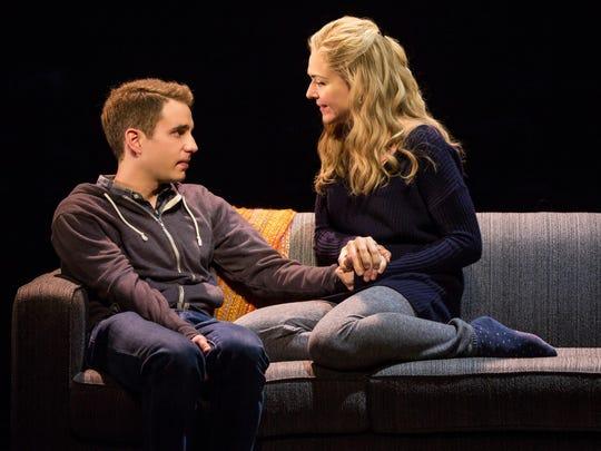 """Ben Platt and Rachel Bay Jones in """"Dear Evan Hansen."""""""