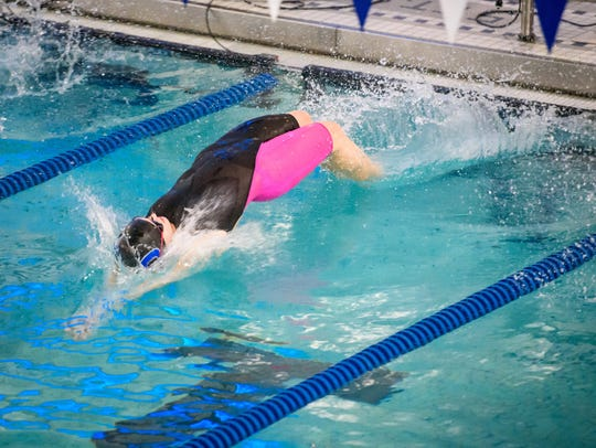 Dallastown's Emma Balderson dives in off the blocks