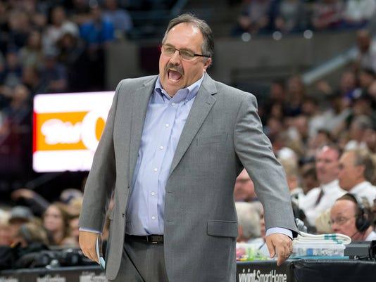 Stan Van Gundy, Detroit Pistons at Utah Jazz