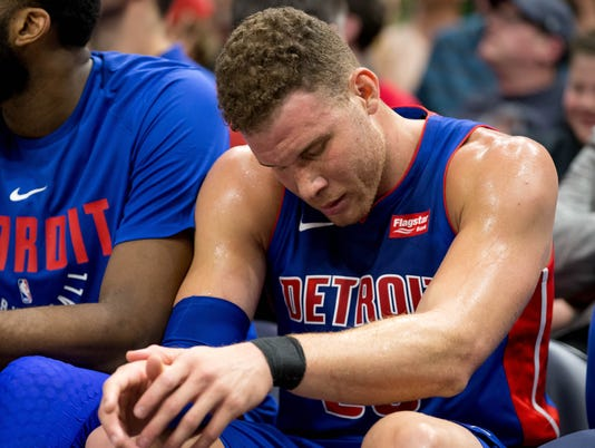 Sad Pistons, Blake Griffin, Detroit Pistons at Utah Jazz