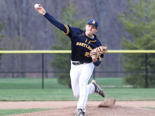 The pitching of Max Hendricks will be a key for Hartland's
