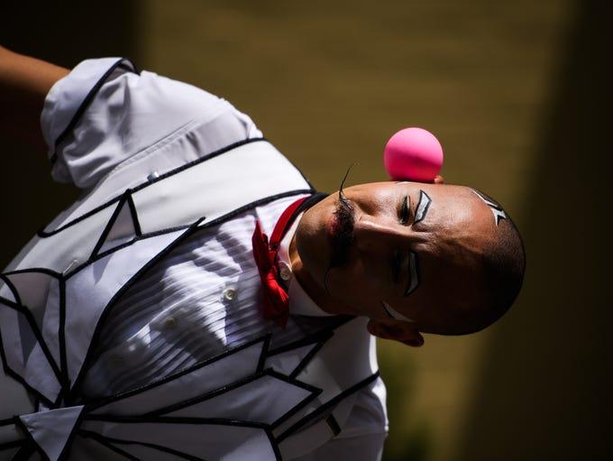 Cirque du Soleil Crystal performer Jorge Petit, a juggler,