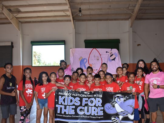 Guam Cancer Care held their Kids for the Cure program at Agana Heights Elementary School with over 200 student participants. Pictured is Ms. Leon Guerrero and her fifth-grade class that placed second, Principal Hannah Gutierrez, Kids for the Cure coaches and Guam Cancer Care staff.