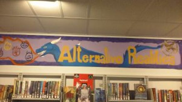 York Suburban High School students designed new banners to highlight book genres in the Teen Forum at Martin Library. (Submitted)