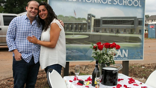 A young man will propose to his girlfriend at the James Monroe site this Saturday at 11:15 am. They both lived in the neighborhood and went to school together at James Monroe. This is the school that burned down in 2014, and is now being rebuilt.