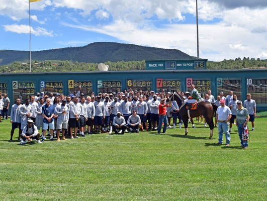 Utep-Miners-Football-Team-in-the-Winner-Circle-At-Ruidoso-Downs-Racetrack.jpg