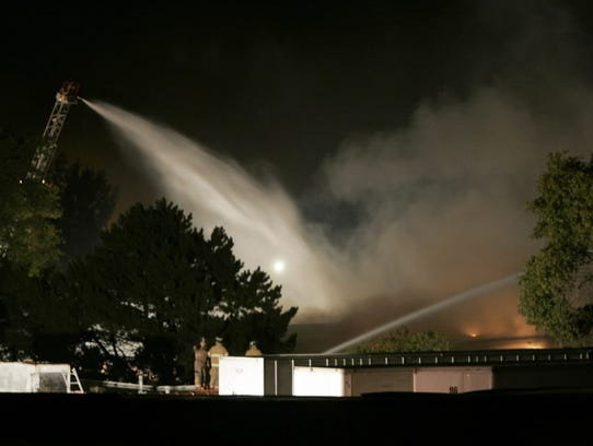 Fire heavily damaged Kitzinger Cooperage in St. Francis