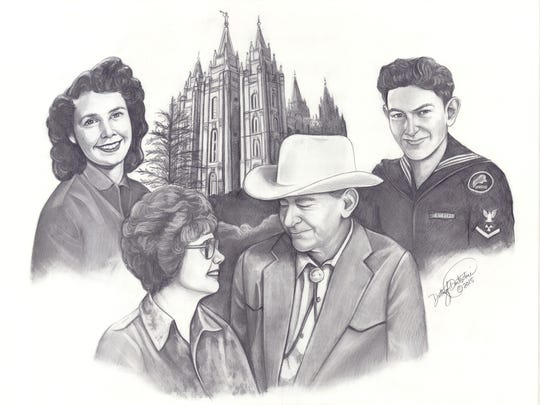 Many of Dotti Durtschi's customers request the inclusion of religious buildings significant to their family.