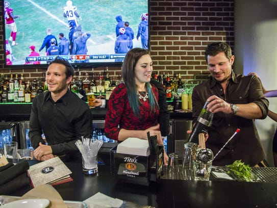 """Drew and Nick Lachey in """"Lachey's: Raising the Bar."""""""