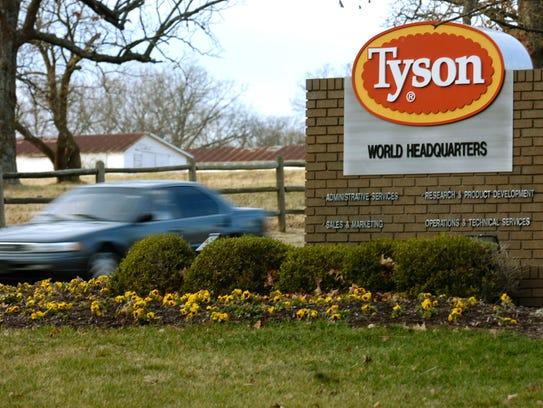 Tyson Foods, headquartered in Springdale, Ark., is