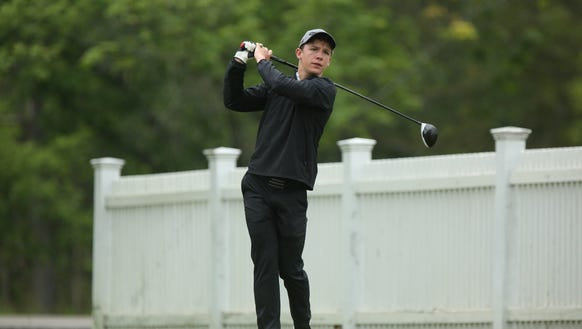 Section 1's Jay Allen tees off on the 9th tee during
