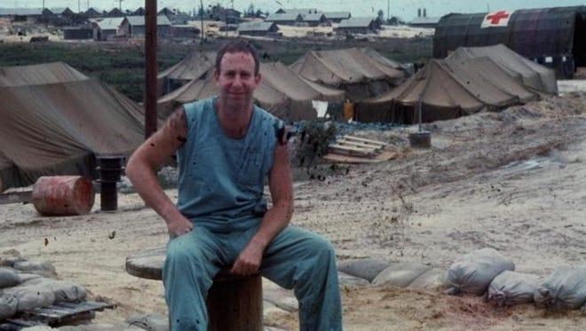 Mayer Katz at the MASH camp he served at 1967-68 in Phu Bai, Vietnam.