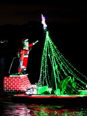 Of course Santa and his little helpers made a spectacular showing during the 31st annual Bonita Springs Christmas Boat Parade on the Imperial River Saturday night.