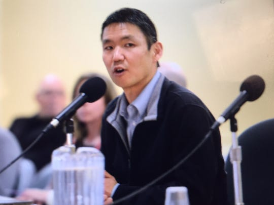 City Market General Manager John Tashiro presents to