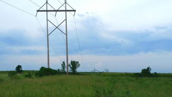 Major power line down southwest of Garretson, just north of 255th Street