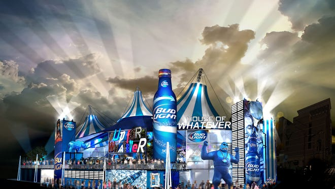 This arts rendering show what Bud Light has planned for Super Bowl XLIX in Arizona.