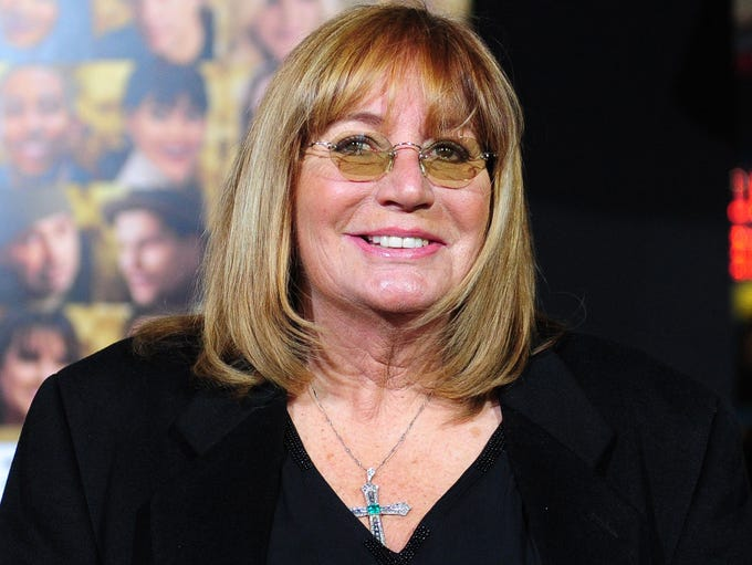 Penny Marshall poses on arrival for the film premiere